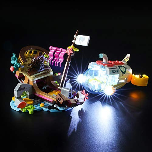 Led Lighting Kit for Dolphins Rescue Mission – Compatible with Lego 41378 Building Blocks Model- Not Include The Set