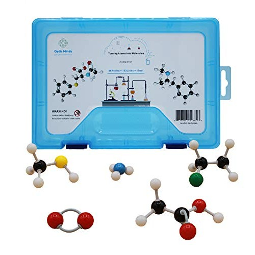 Optic Minds 239 p Organic Chemistry Molecular Model Kit Bonus Carry Bag & Periodic Table Gifts Teachers Students