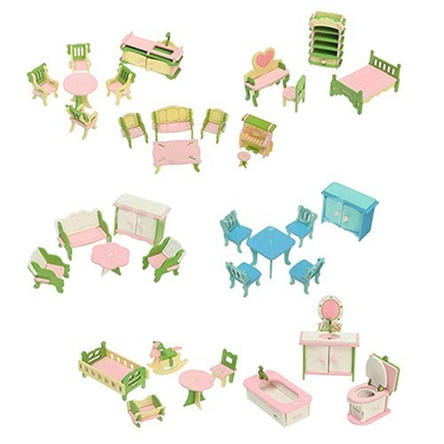 discountstore145 Doll House AccessoryModel Role Play Miniature Size Toy Eco-Friendly Children Toy Furniture Pretend