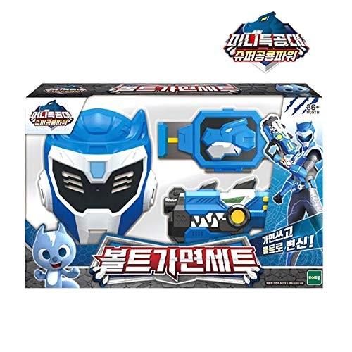 MINI FORCE Miniforce Volt Bolt Super Dinosaur Power Mask Gun Play Set for Kids + Gift