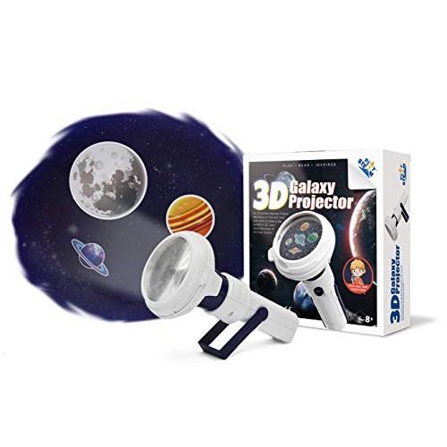 PLAYSTEAM 3D Galaxy Projector Portable Planetarium Solar System STEM Kit
