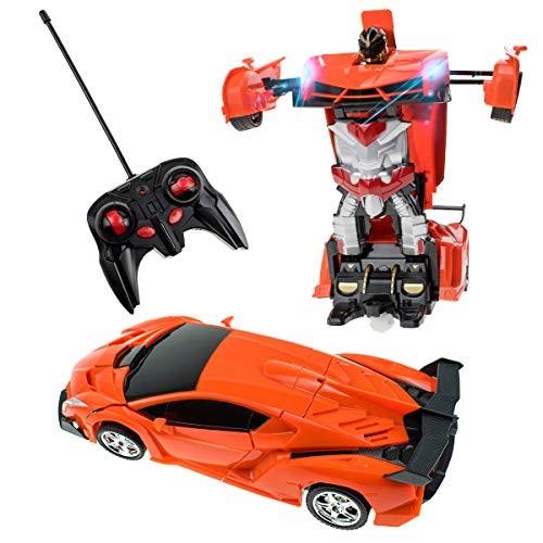 karsiqi Deformation Car for Kids Remote Control Transform Robot Toys for Children Boys &
