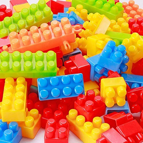 Building block toy Children's Large Particles Plastic Assembled Spell Inserted Blocks Baby Early Education Puzzle Kindergarten 400 Boxed
