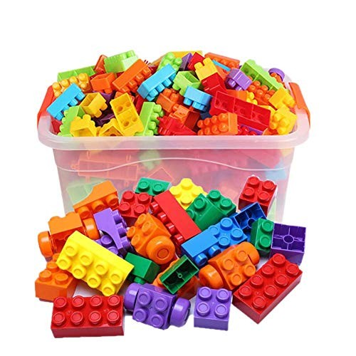 LxY-Building Blocks Assembling Toy Gifts My World Big Block of Large Particles Building Plastic Spell Insert 3-6 Years Old Boys and Girls Children Baby Early Education Kaizhi Educational Toys