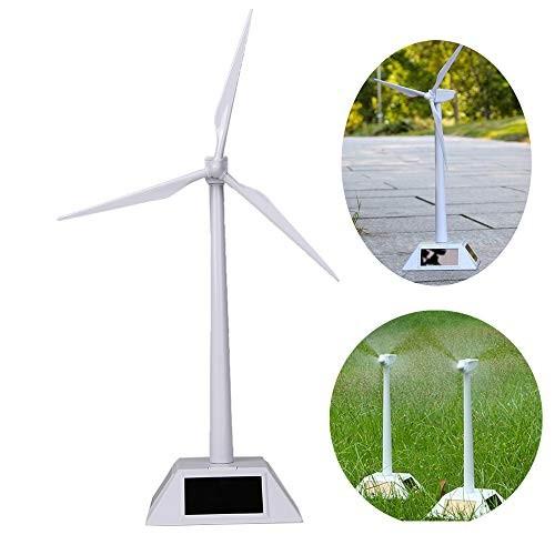 Wiixiong Mini Solar Powered Windmills Wind Turbine Desktop Model Kids Science Class Teaching Tool Educational Toy