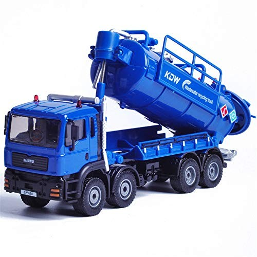 SxPC Alloy Engineering Vehicle Waste Water Recycling and Transportation Model Environmental Protection Children's Toys 1 50Blue