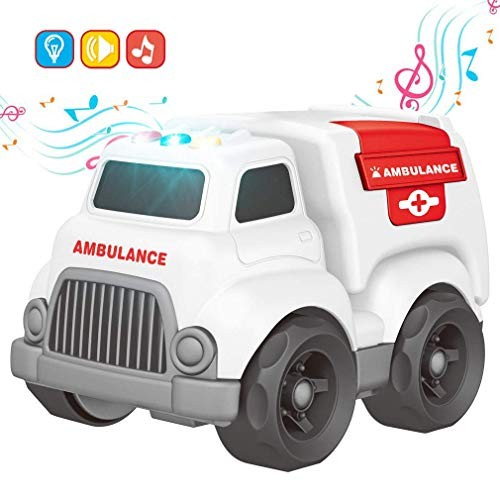 Toy Cars for Toddler Ambulance with Lights and Sounds Educational Toy Car for Children