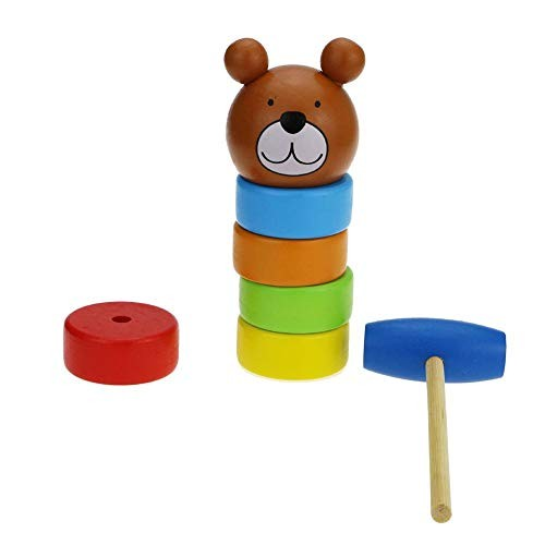 Activane Immortal Daruma Magic Trick Building Blocks Beat Wooden Toys Rainbow Stack Tower Games Funny Education for Kids