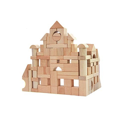Llsdls Wooden Building Blocks-Colored Educational Toy for Toddlers with Different Shapes-Geometric Sorter Board Blocks -Preschool Education Toddler Children