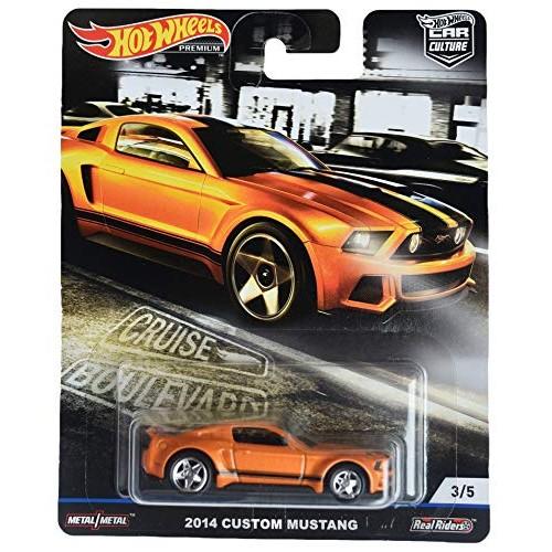 Hot Wheels Car Culture Cruise Boulevard 2014 Custom Mustang 3/5 Burnt Orange