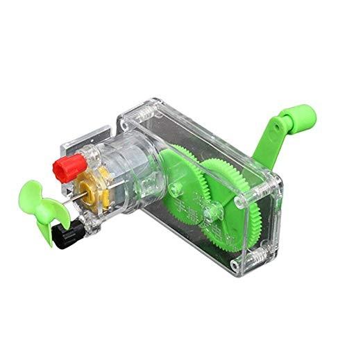 farawamu DIY Generator Kit Hand Crank DC Model Fan Science Experiment Education Kids Gift Photo Color