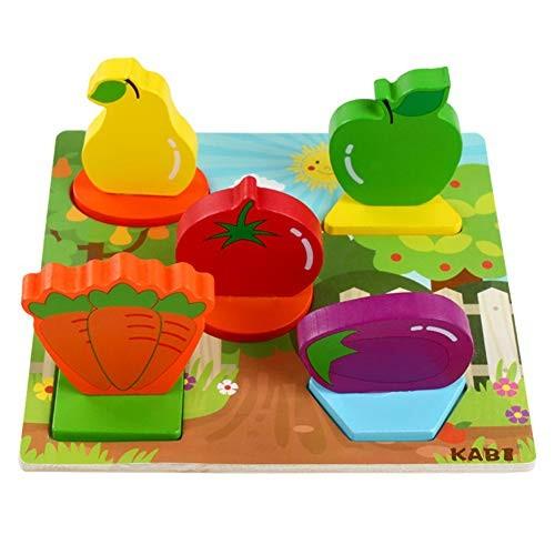 DSstyles Building Blocks 3D Hand Grip Puzzles Wooden Toy Kindergarten Early Education Blue