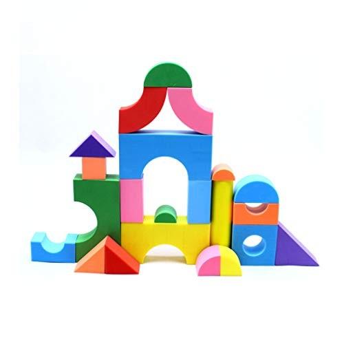 LIUFS-TOY Children's Foam Soft Toys 152 Pcs Static Plastic Building Blocks Spell Early Education Puzzle Sponge Size pcs