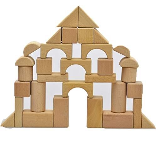Lxrzls Original Ecological Green Wooden Blocks Children's Building Toys