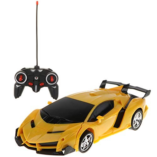 Toygogo Car Transform to Robot Remote Control Collection Toys for Children – Yellow as