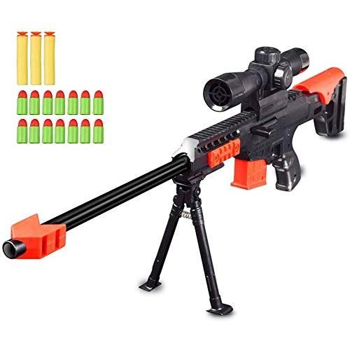 Ferbixo Toy Gun Military Combat Barrett Sniper Rifle Children Outdoor CS Soft Bullet Toy