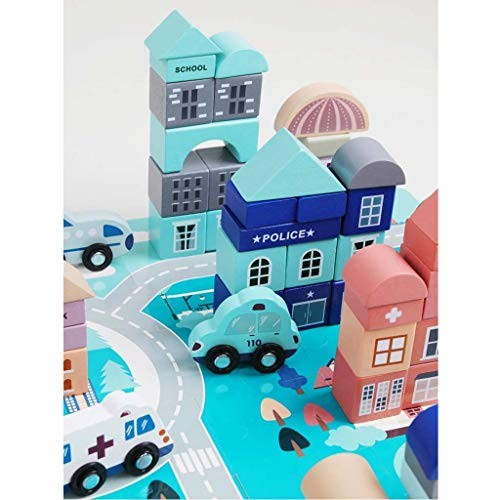 Lxrzls Wooden Children's Toy Building Blocks 3-6 Years Old Girl Boy Puzzle Assembling Toys Home Decor Educational