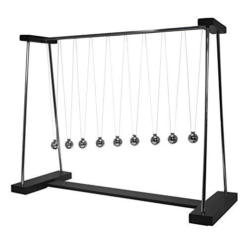 ScienceGeek DIY Pendulum Wave Classic 9 Steel Balls Newton's Cradle Balance