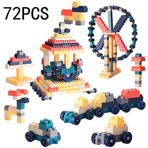 72Pcs Children's Wooden Building Blocks