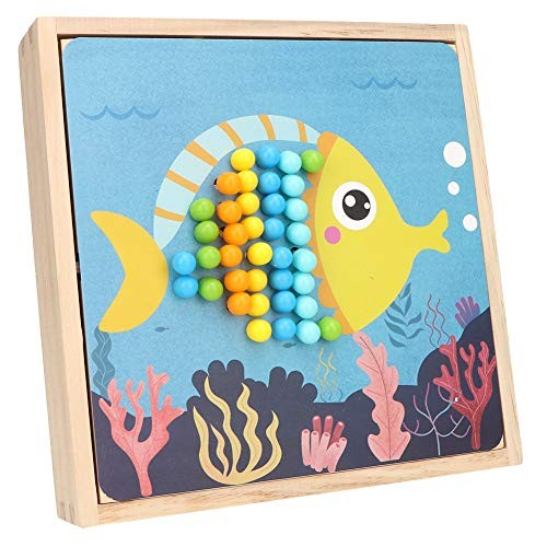 Wooden Puzzl Drawing Board Toy DIY Child Early Educational Mushroom Nail Building Block Puzzle Intelligent