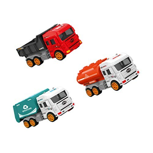 Toyvian 3pcs Kids Engineering Vehicles Construction Cars Set Truck Learning Toys Various Toy for Children Gift