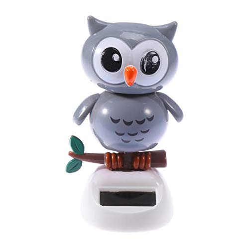 NUOBESTY Cute Solar Dancing Toy Lovely Owl Powered Dolls Swinging Animated Bobble Dancer Car Desk and Dashboard Dcor