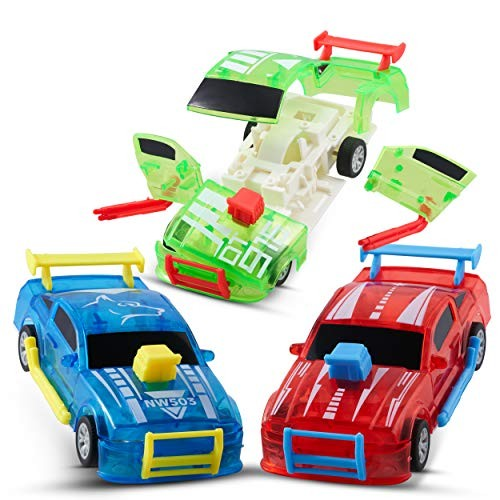CHUCHIK Pull Back Cars Pack of 3  Birthday Toy Car Set Race Car