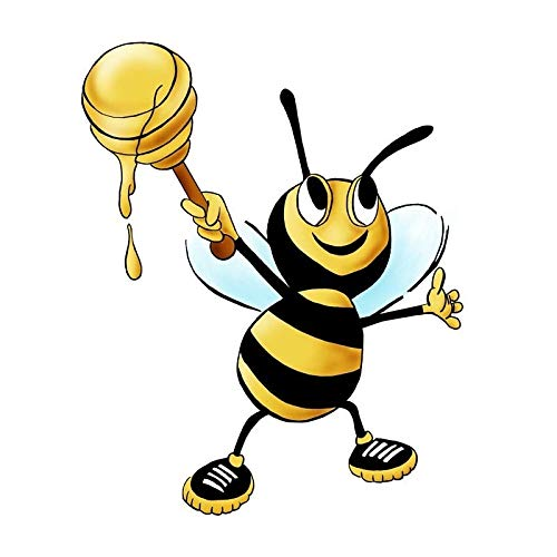 141CM174CM The Bee Holds Honey Decorate PVC Sticker Car Decal 12-300721