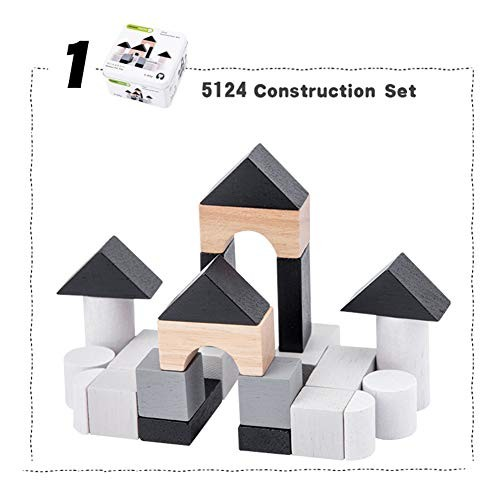 ZBmiluddeer Blocks ToyWooden Building Domino Tangram Puzzles Fishing Game Education Kids Toy