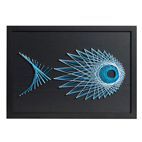 RuiyiF DIY Nail String Art Kits Craft for Kids Adults Creative 3D Kit Fish Over Handmade Wall Decor