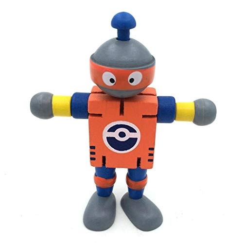 Zhuygba 1Pcs Children's Wooden Early Education Creative Building Block Deformation Robot Toy35 x 14 43 inch