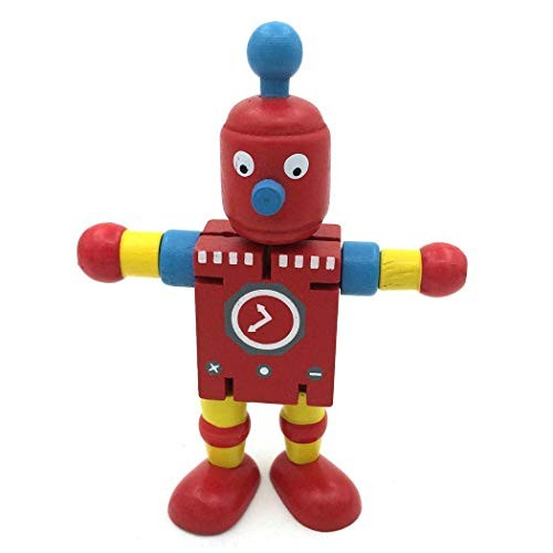 Youandmes Wooden Robot ToyChildren's Early Education Creative Building Block Deformation Toy
