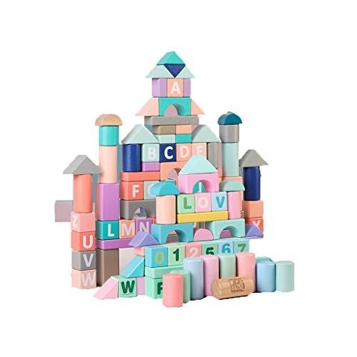 Llsdls Wooden Building Blocks Children's Educational Stacking Toys
