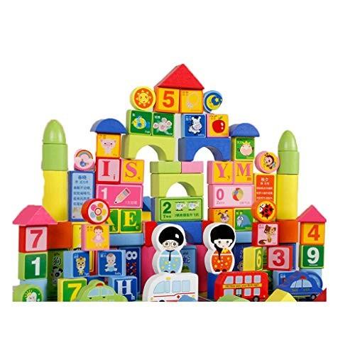 Llsdls Colorful Building Blocks Set Wooden Educational Toys