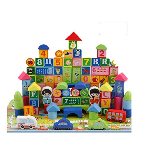 Llsdls Wooden Building Blocks Toys Educational Stacking