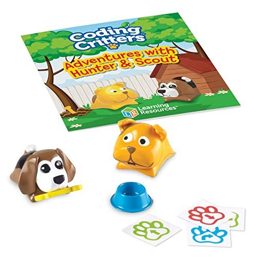Learning Resources Coding Critters Pair-A-Pets Dogs Hunter & Scout Early STEM Toy Interactive Pet Ages 4+