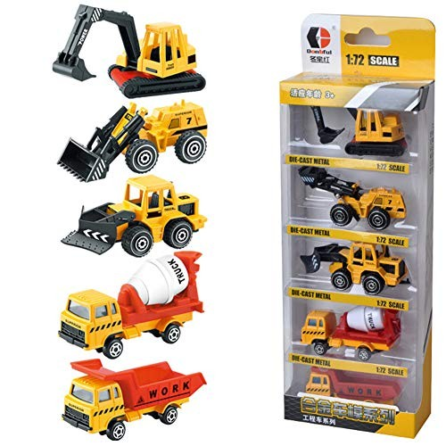 Mggsndi 5Pcs Fashion Modern Diecast Mini Engineering Army Car Sliding Vehicle Model Toy – Home Decor Best Educational Birthday for Boys and Girls Adults Truck