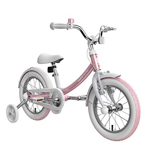 Segway Ninebot Kids Bike for Boys and Girls 14 inch with Training Wheels Pink