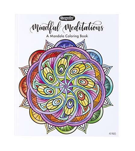 Crayola Mandala Coloring Book Mindful Meditations 40 Premium Pages Gift Multicolor