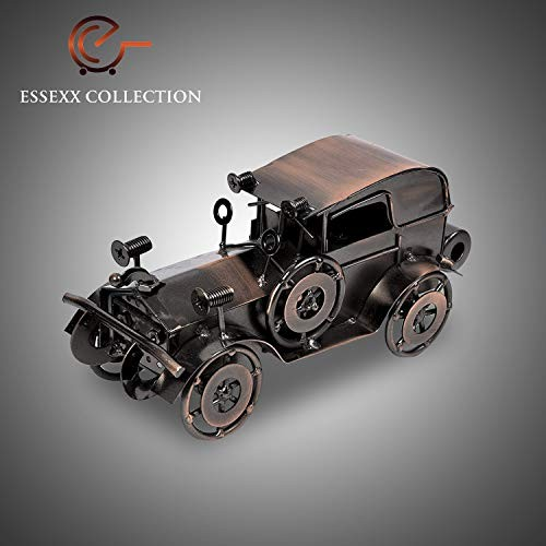 ESSEXX COLLECTION Antique Vintage Car Model Handcrafted Collections Collectible Vehicle Toys for Bar or