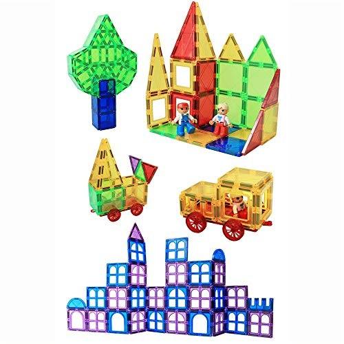 Toddlers Building Block Set Magnetic Tiles Creativity Toy for Preschool ToddlersMagnetic Blocks Toys 158 PCS Color Multi-Colored Size 32PCS