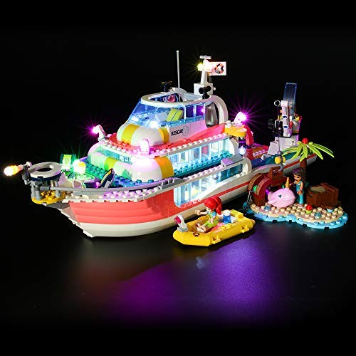 Led Lighting Kit for Rescue Mission Boat – Compatible with Lego 41381 Building Blocks Model- Not Include The Set