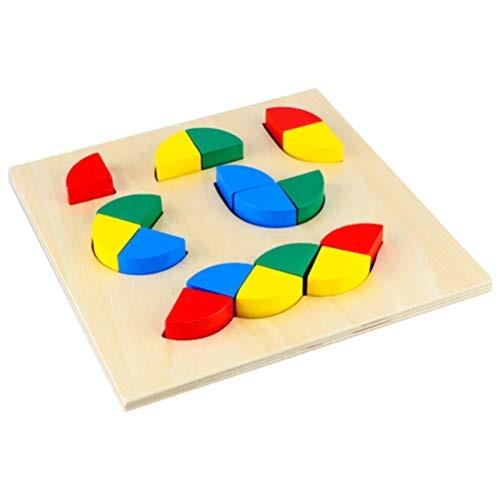 1 Set Kids Irregular Puzzle Toys Creative Funny Wooden Building Blocks Jigsaw for Children