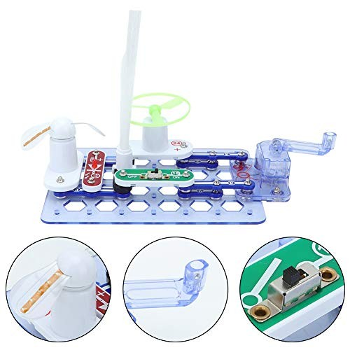 Electronics Exploration Building Blocks KitHand-Cranked Power Generation Science Teaching Aids Physical Circuit Board Kit for Kids Collections Toys Gift
