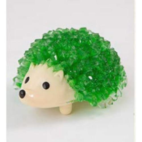 JUNIQUTE Crystal Growing Kit Hedgehog Toy Green