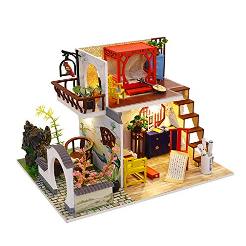 Toy Shimigy 3d Wooden Diy Miniature Dollhouse Furniture Ancient Town Decorate Craft Gift Educational Toys Planet