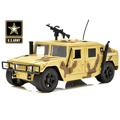 US Army Friction Powered Military Truck for Boys Patrol Tank Toy Car with Door