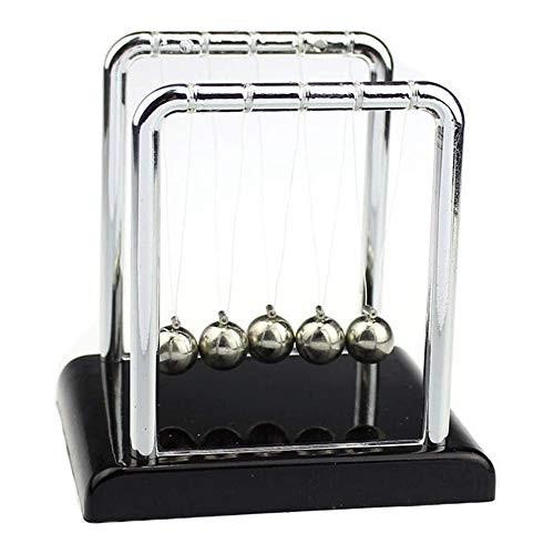 Lrsnine Funny Balance Swinging Magnetic Balls Newton's Cradle Steel Ball for Office Physics Teacher Toys