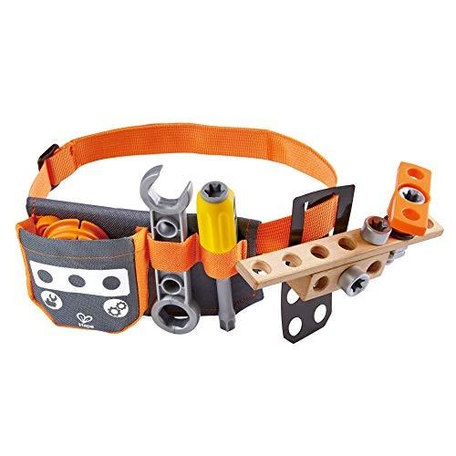 Hape Junior Inventor Scientific Tool Belt 19 Piece Utility Component STEAM Storage for Children +4 Years