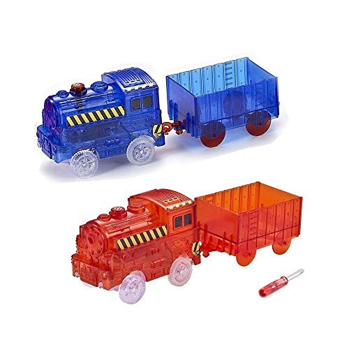 ONTOPON 2 Train Car for Magic Bends Track Set Modular and Brilliant in The
